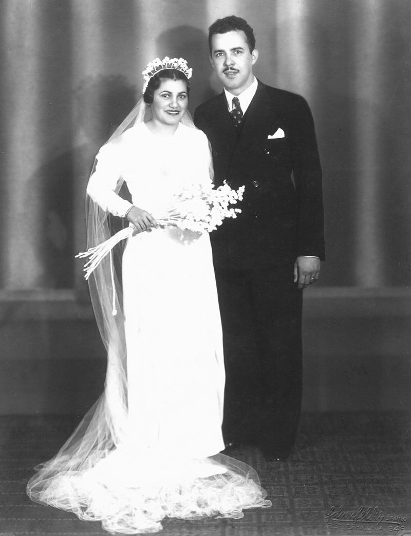 Nelly e Arcênio se casaram em 1937.