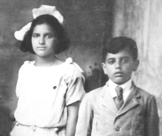 Olga e Waldomiro em 1923.